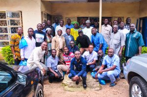 A group photo of GOSA members present during the commissioning